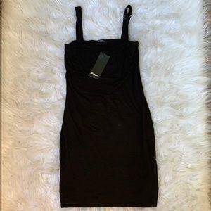 NWT Square neck body con mini dress